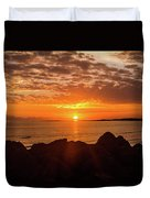 Sunrise At The Jetty Duvet Cover