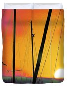 Sunrise At The Marina Duvet Cover