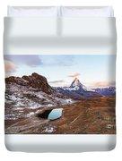 Sunrise At The Matterhorn Mountain Area Duvet Cover