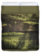 Sunrise At The Sheep Farm Duvet Cover