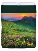 Sunrise Behind Goat Wall Duvet Cover by Evgeni Dinev