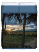 Sunrise Between The Palms Duvet Cover