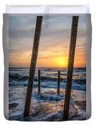 Sunrise Between The Pillars Landscape Photograph Duvet Cover