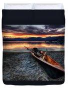 Sunrise Boat Duvet Cover