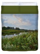 Sunrise Clouds Above Glacial Park's Nippersink Creek Duvet Cover