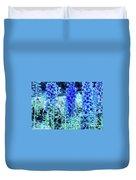Sunrise Delphiniums Duvet Cover