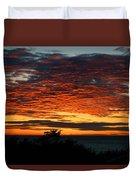 Sunrise Drama By The Sea Duvet Cover
