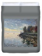 Sunrise Fishing Duvet Cover