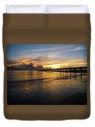 Sunrise Fort Clinch Pier Duvet Cover