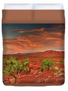 Sunrise In Capitol Reef National Park Utah Duvet Cover