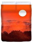 Sunrise In Hocking State Forest Duvet Cover