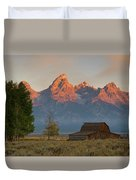 Sunrise In Jackson Hole Duvet Cover