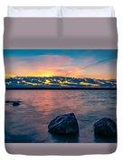 Sunrise In Motion Duvet Cover