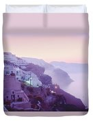 Sunrise In Oia Duvet Cover