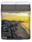 Sunrise In Rio De Janeiro Duvet Cover