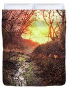 Sunrise In The Forest Duvet Cover