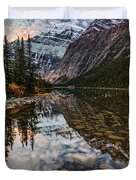 Sunrise In The Rocky Mountains Duvet Cover