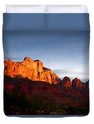 Sunrise In Utah Duvet Cover