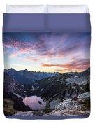 Sunrise Into The Lake Duvet Cover