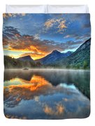 Sunrise Lake Duvet Cover