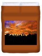 Sunrise Landscape In Tanzania Duvet Cover