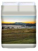 Sunrise Landscape Over Morganton Town In  North Carolina  Duvet Cover