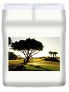 Sunrise On A Golf Course Duvet Cover