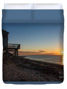 Sunrise On Beach Road, Falmouth Duvet Cover