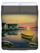 Sunrise On Blue Rocks 2 Duvet Cover