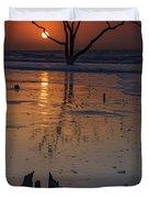 Sunrise On Boneyard Beach Duvet Cover