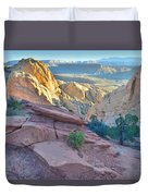Sunrise On Burr Trail Switchbacks Duvet Cover