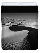 2a6856-bw-sunrise On Death Valley  Duvet Cover
