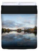 Sunrise On Fourth Lake Duvet Cover