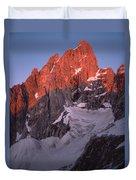 1m9380-sunrise On Grand Teton  Duvet Cover