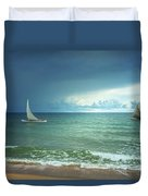 Sunrise On Indian Ocean Duvet Cover
