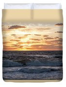 Sunrise On Pompano Beach Pompano Florida Duvet Cover