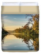 Sunrise On The Canal Duvet Cover
