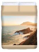 Sunrise On The Cantabrian Coast In Muskiz Duvet Cover