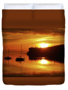 Sunrise On The Cove Duvet Cover