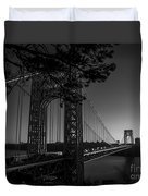 Sunrise On The Gwb, Nyc - Bw Landscape Duvet Cover