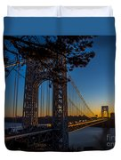 Sunrise On The Gwb, Nyc - Landscape Duvet Cover