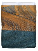 Sunrise On The Groomed Beach  Duvet Cover