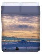 Sunrise On The Highway Duvet Cover