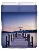 Sunrise On The Lake Duvet Cover