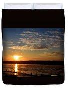 Sunrise On The Mississippi Duvet Cover