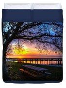 Sunrise On The Neuse Duvet Cover