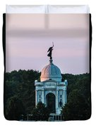 Sunrise On The Pennsylvania Monument Gettysburg Battlefield Duvet Cover