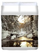 Sunrise On The River Duvet Cover