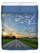 Sunrise On The Road Duvet Cover