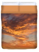 Sunrise Orange Sky, Willamette National Forest, Oregon Duvet Cover